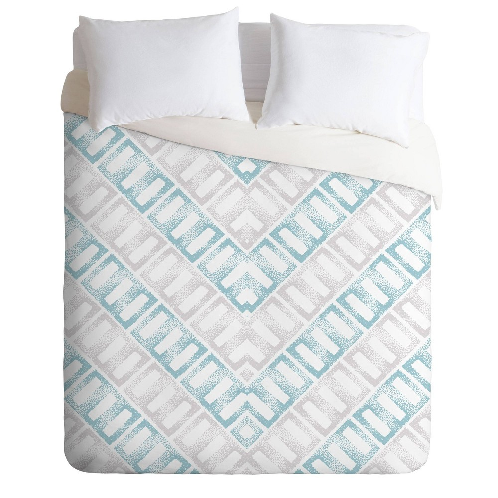 Full/Queen Gabriela Fuente Hallie Duvet Set Blue - Deny Designs