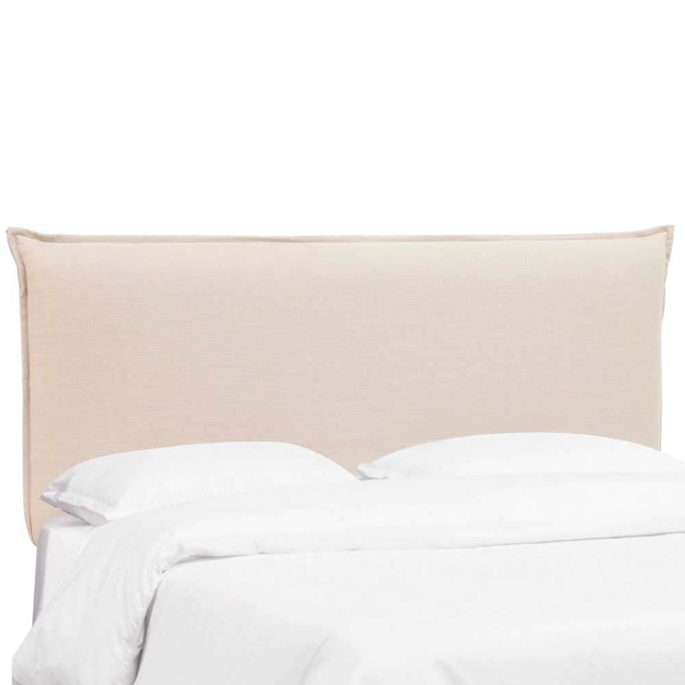 Full French Slipcover Headboard - Linen Talc - Nate Berkus from Nate Berkus