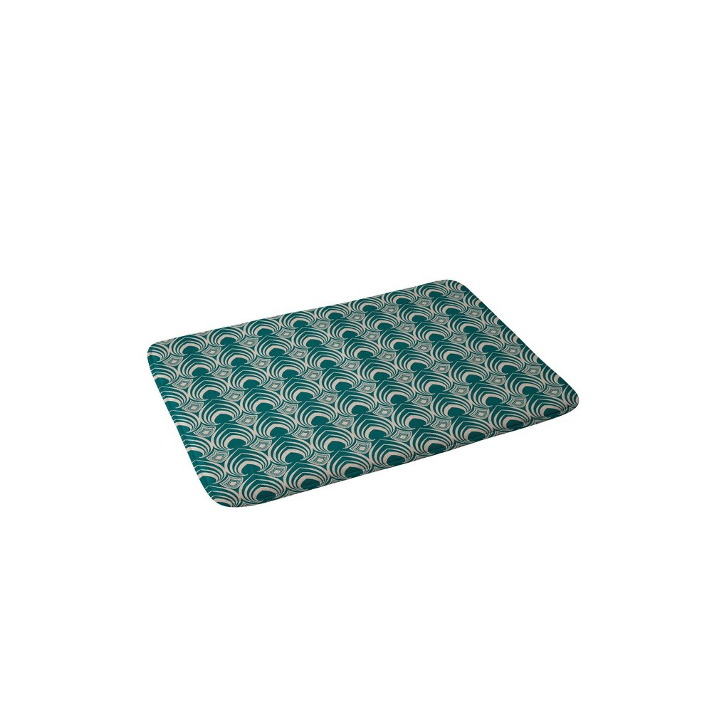 Gabriela Fuente Classic Time Memory Foam Bath Mat Green - Deny Designs from Deny Designs