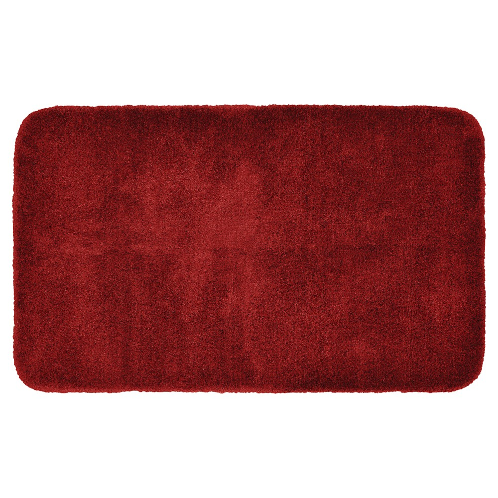 "30""x50"" Finest Luxury Ultra Plush Washable Nylon Bath Rug Chili Pepper Red - Garland from Garland Rug"