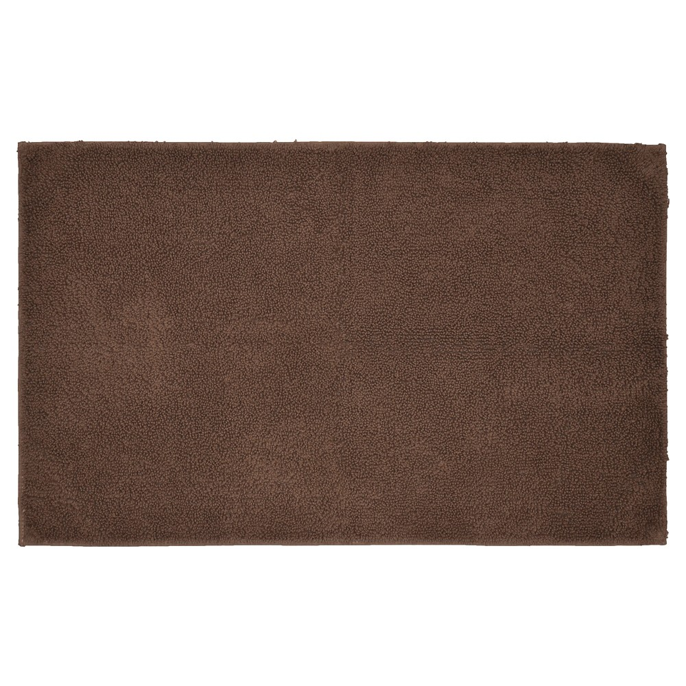 "24""x40"" Queen Cotton Washable Bath Rug Chocolate - Garland from Garland Rug"