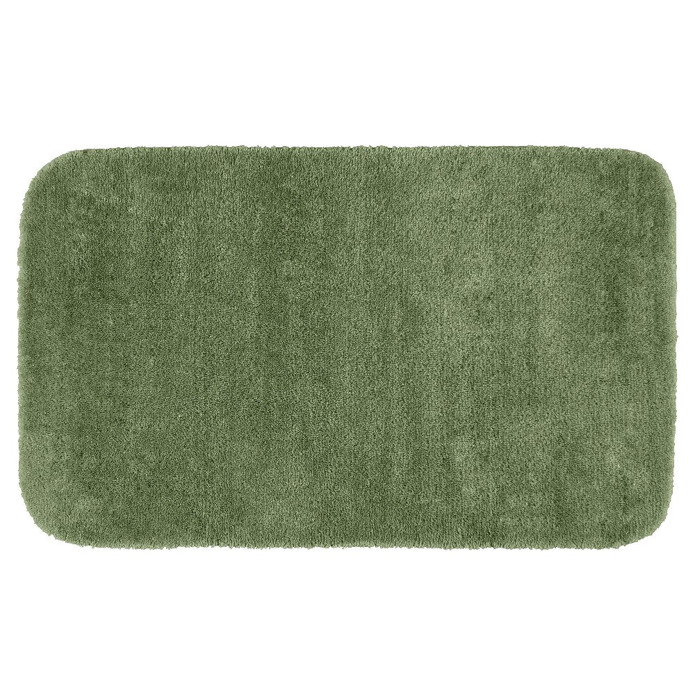 "30""x50"" Traditional Plush Washable Nylon Bath Rug Deep Fern - Garland from Garland Rug"