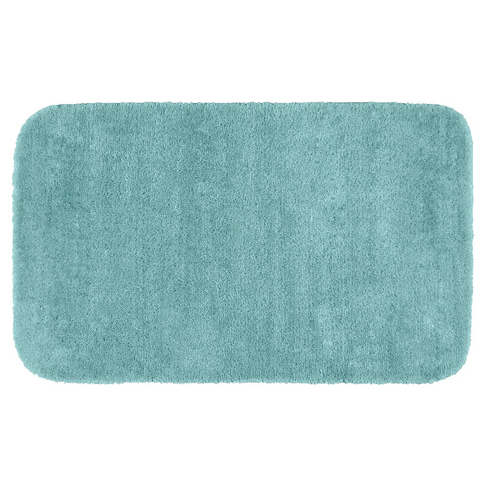 "30""x50"" Traditional Plush Washable Nylon Bath Rug Sea foam - Garland from Garland Rug"
