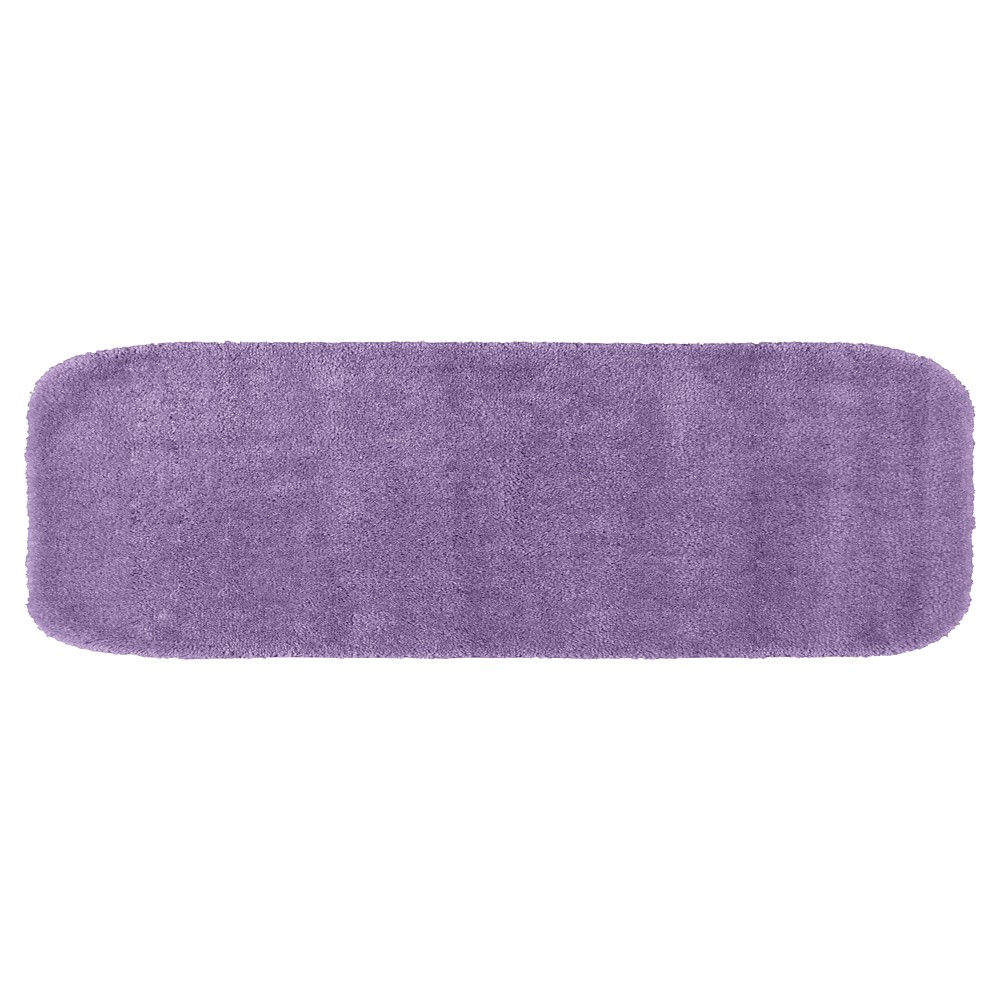 "22""x60"" Traditional Plush Washable Nylon Bath Runner Purple - Garland from Garland Rug"