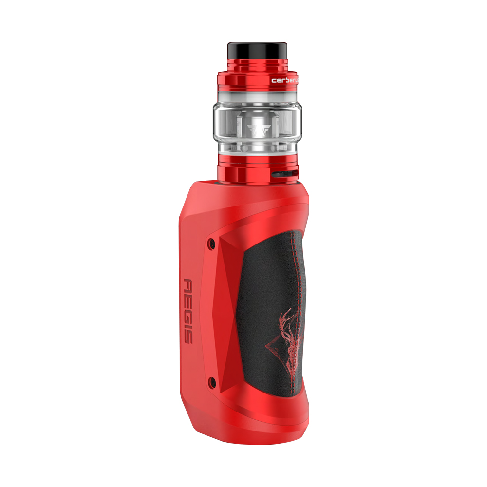Geekvape Aegis Mini 80W TC Kit with Cerberus Tank 2200mAh (X'mas Red & Black, 5.5ml Special Standard Edition)