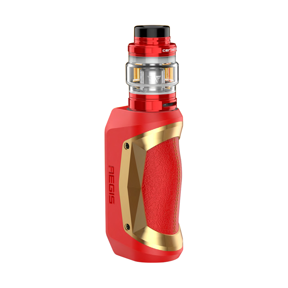 Geekvape Aegis Mini 80W TC Kit with Cerberus Tank 2200mAh (X'mas Red & Gold, 5.5ml Special Standard Edition)
