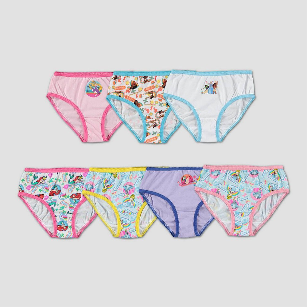 Girls' Disney Princess 7pk Underwear - 8, Pink/pink/White from Disney Princess