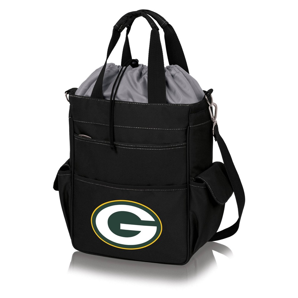 Green Bay Packers Activo Cooler Tote by Picnic Time - Black from Picnic Time