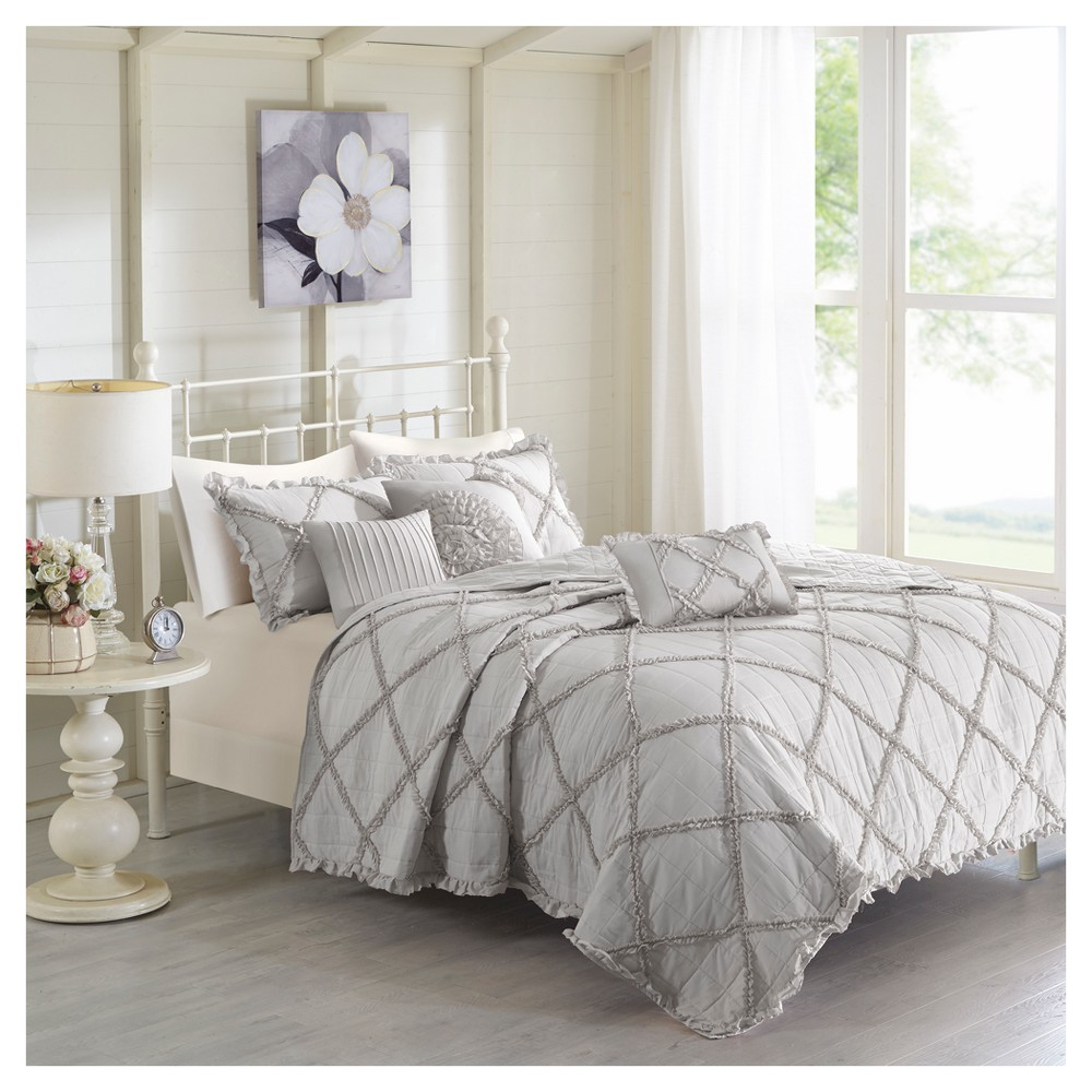 Gray Robin Quilt Set (Full/Queen) from No Brand