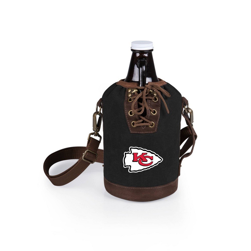Growler Tote with Growler - Kansas City Chiefs (Black)-Digital Print from Picnic Time