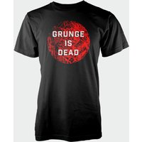 Grunge Is Dead Black T-Shirt - L - Black from T-Junkie