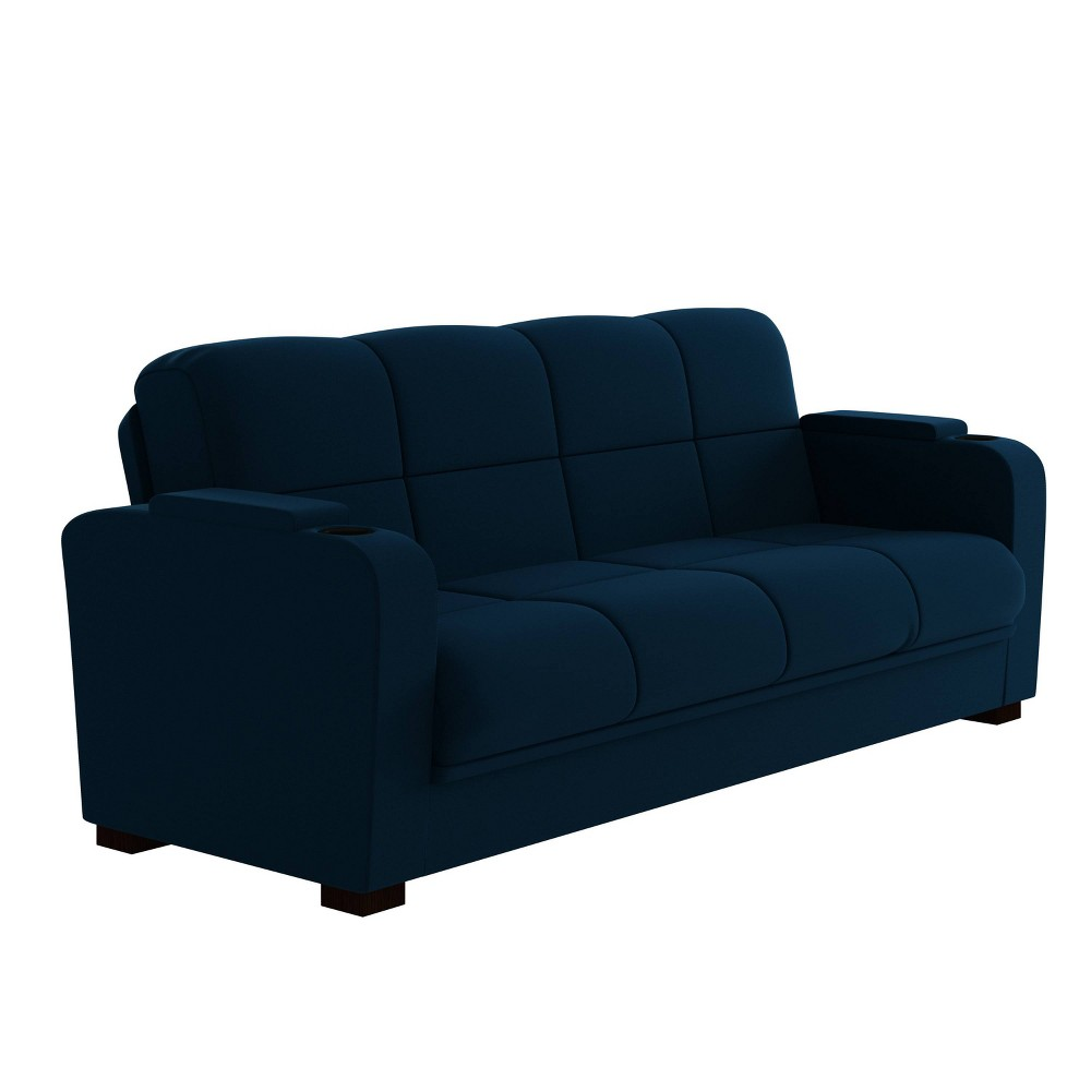 Halona Storage Arm Convert-a-Couch Navy Blue - Handy Living