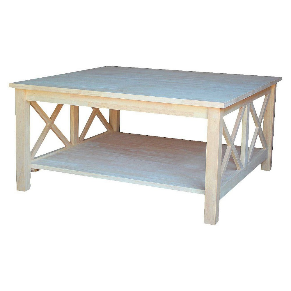 Hampton Square Coffee Table - International Concepts, Wood