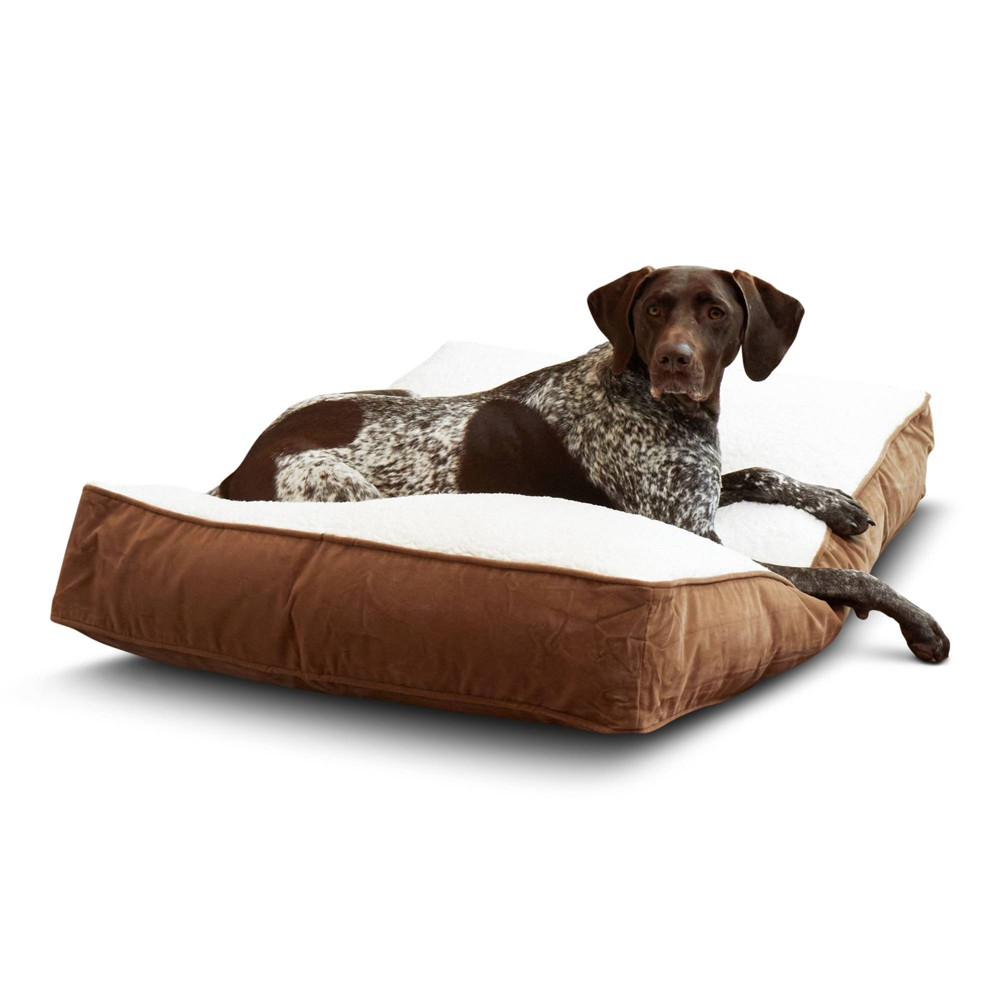 Kensington Garden Buster Dog Bed - Latte/Birch - M from Kensington Garden