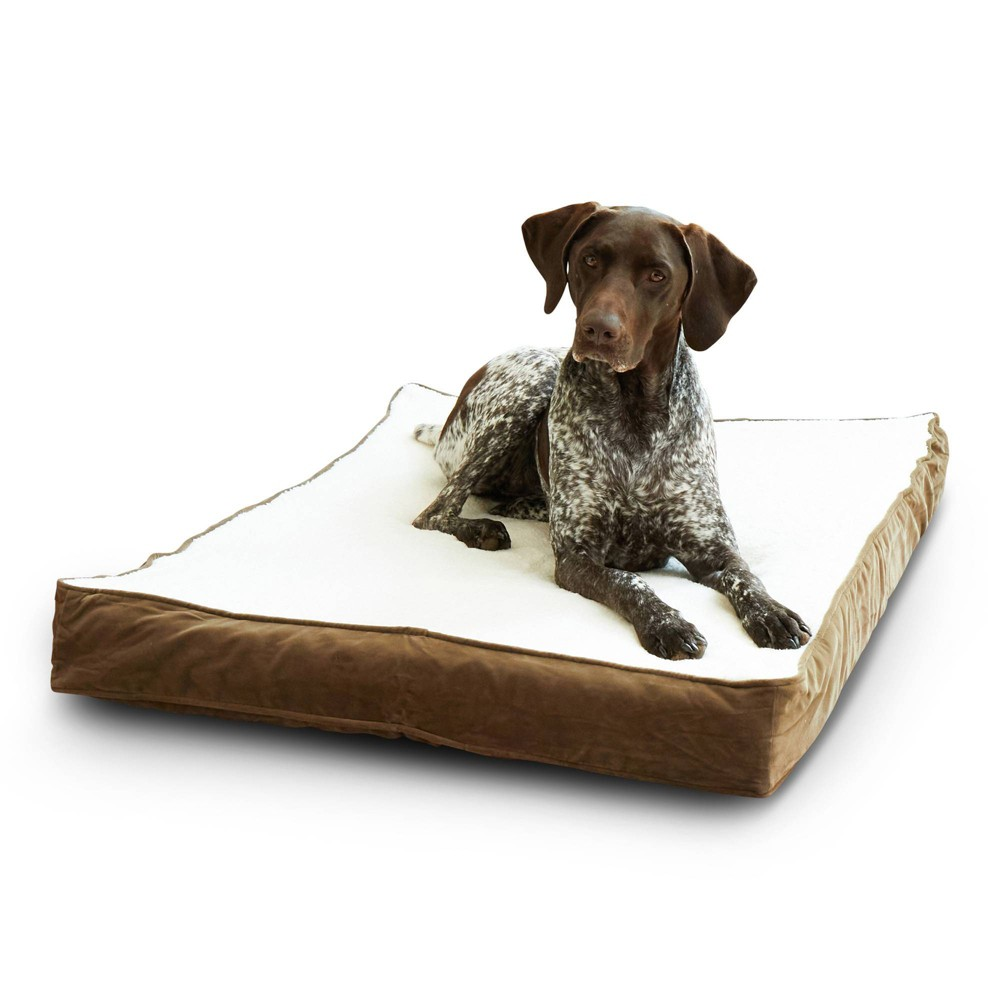 Kensington Garden Oscar Orthopedic Dog Bed - Latte/Birch - M from Kensington Garden