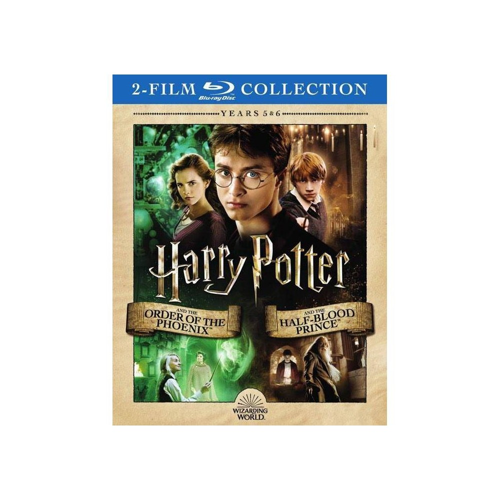 Harry Potter Double Feature: The Order of the Phoenix / The Half-Blood Prince (Blu-ray) from Warner