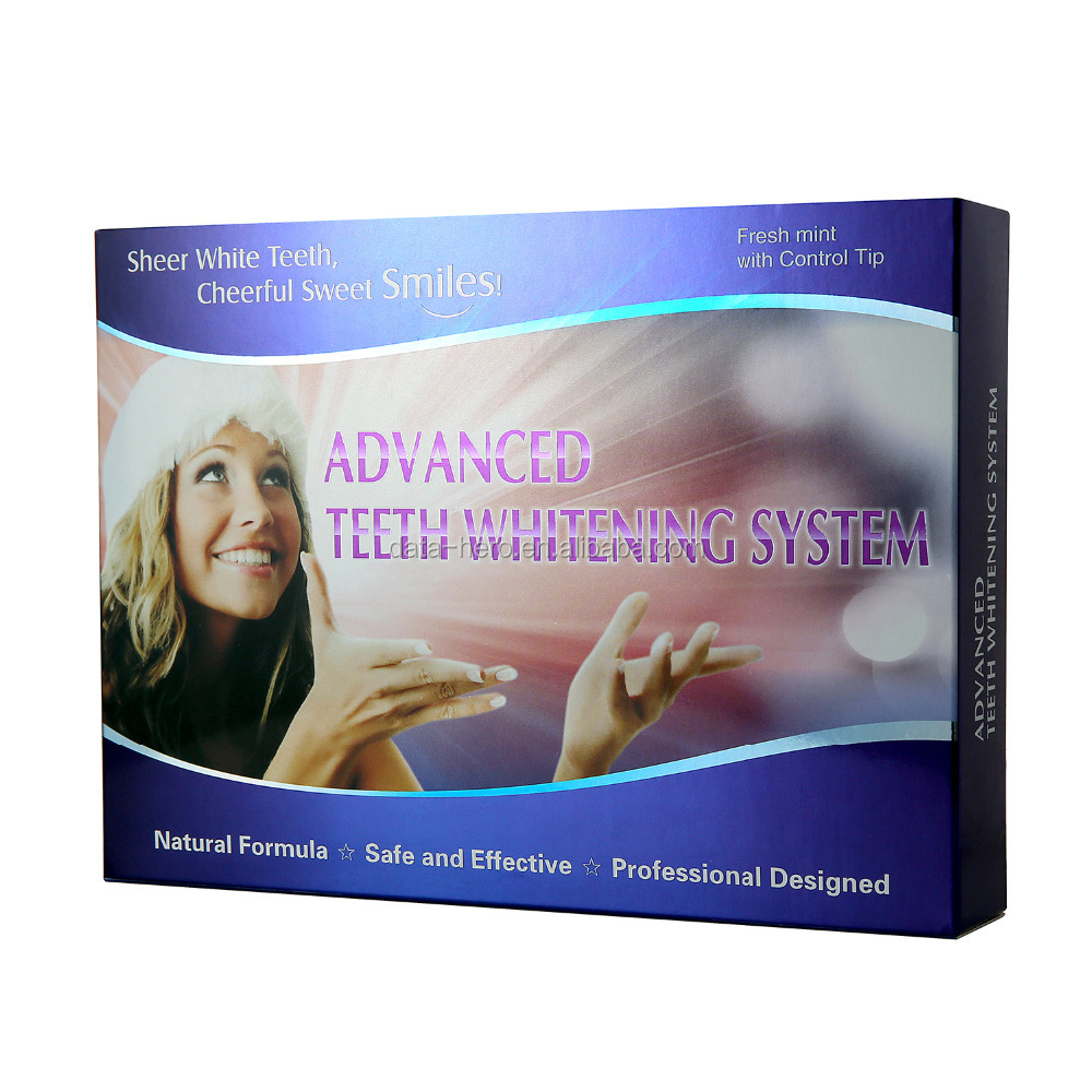 Home use teeth whitening kit With 5 LED Light  non peroxide gel whitening kit