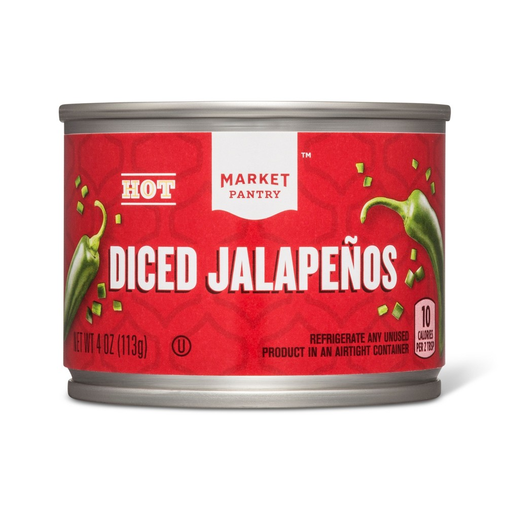 Hot Diced Jalapenos 4oz - Market Pantry from Market Pantry