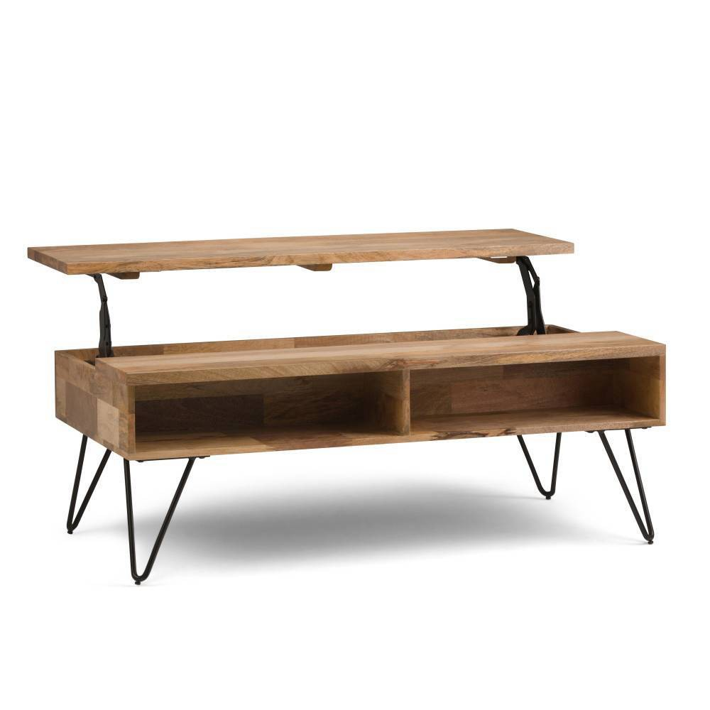 "48"" Moreno Solid Mango Wood Coffee Table Natural - WyndenHall from WyndenHall"