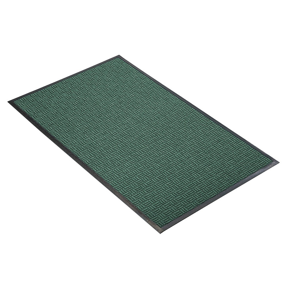 Hunter Green Solid Doormat - (2'X3') - HomeTrax