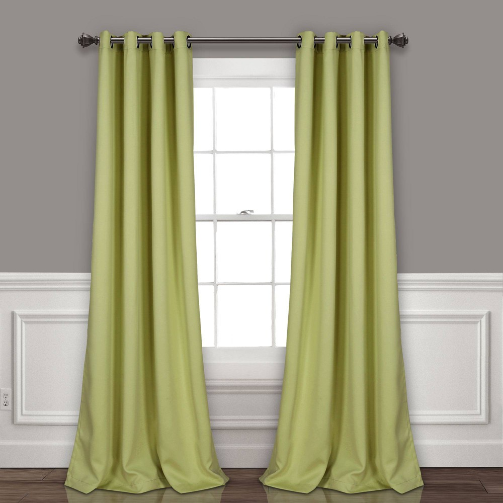 "Set of 2 95""x52"" Insulated Grommet Blackout Curtain Panels Soft Sage - Lush Décor, Adult Unisex, Size: 95""x52"", Soft Green"