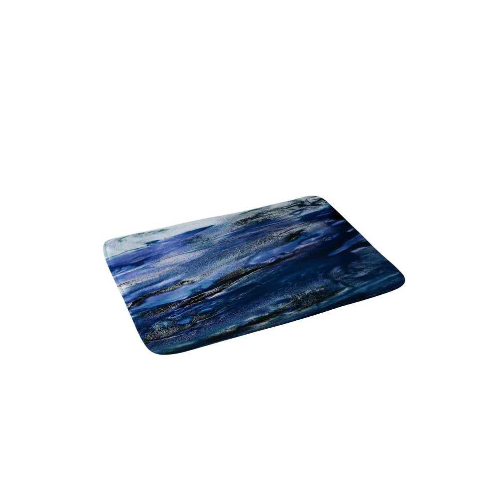 Iris Lehnhardt Floating Memory Foam Bath Mat Blue - Deny Designs from Deny Designs