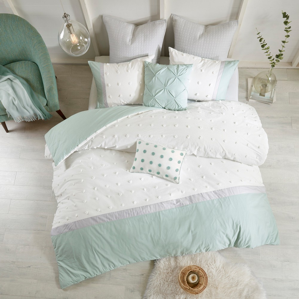Ivory Kira Duvet Cover Set (Full/Queen) 7pc