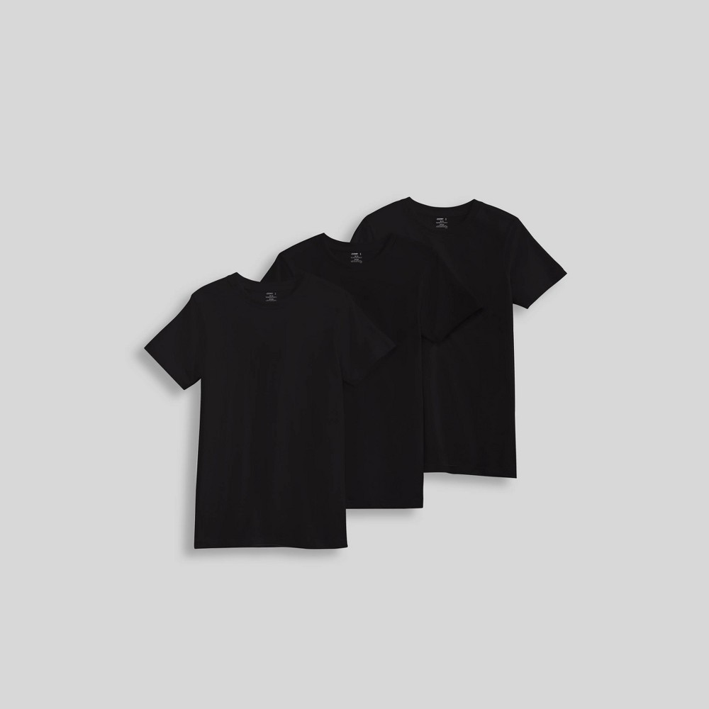Jockey Generation Boys' 3pk Crew Neck Undershirt - Black M from Jockey Generation