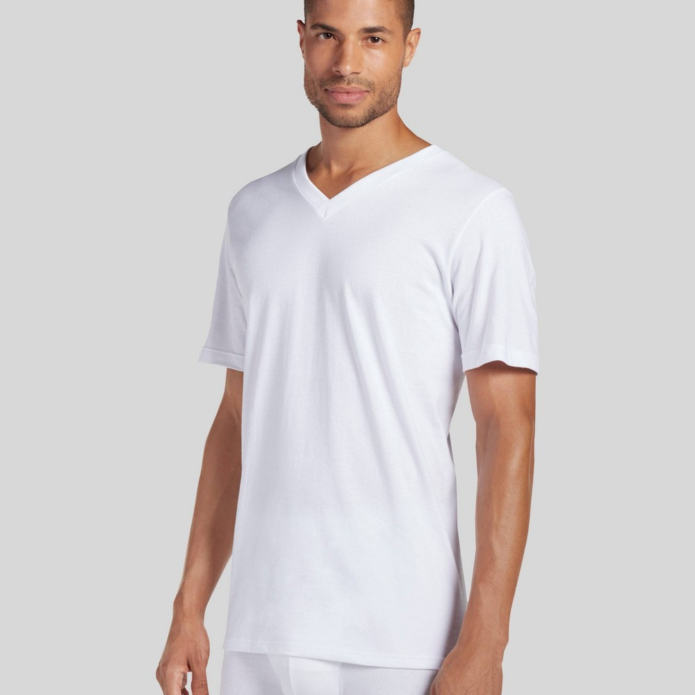 Jockey Generation Men's Big & Tall Cotton V-Neck Undershirt 2pk - White 4XL from Jockey Generation