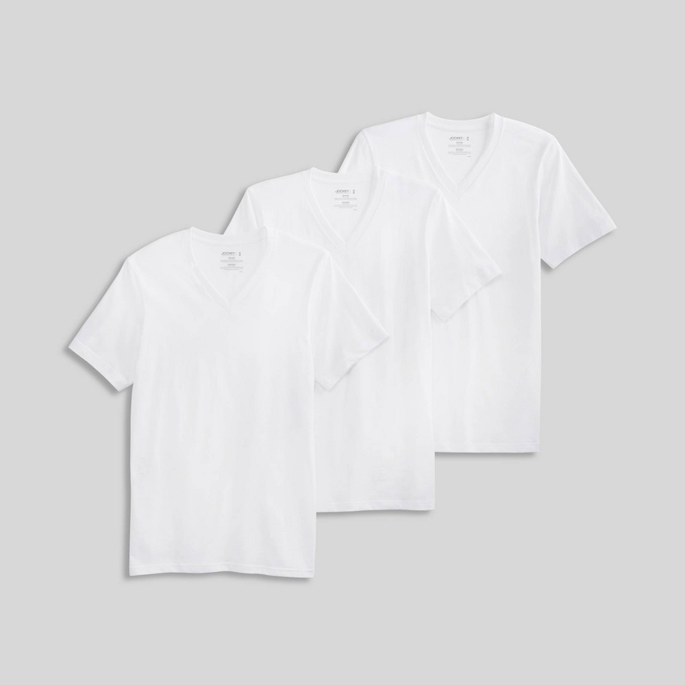 Jockey Generation Men's Stay New Cotton 3pk V-Neck T-Shirt - White M from Jockey Generation