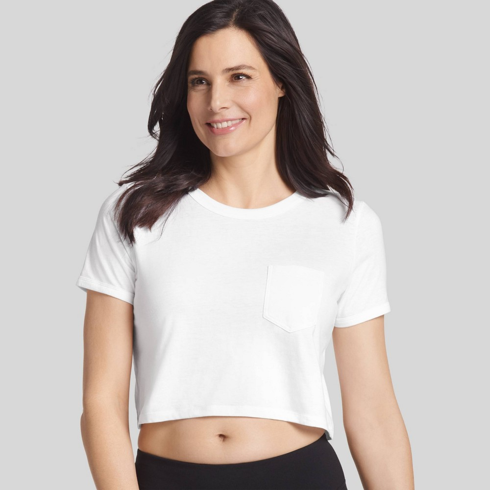 Jockey Generation Women's Retro Vibes Crop T - White M from Jockey Generation