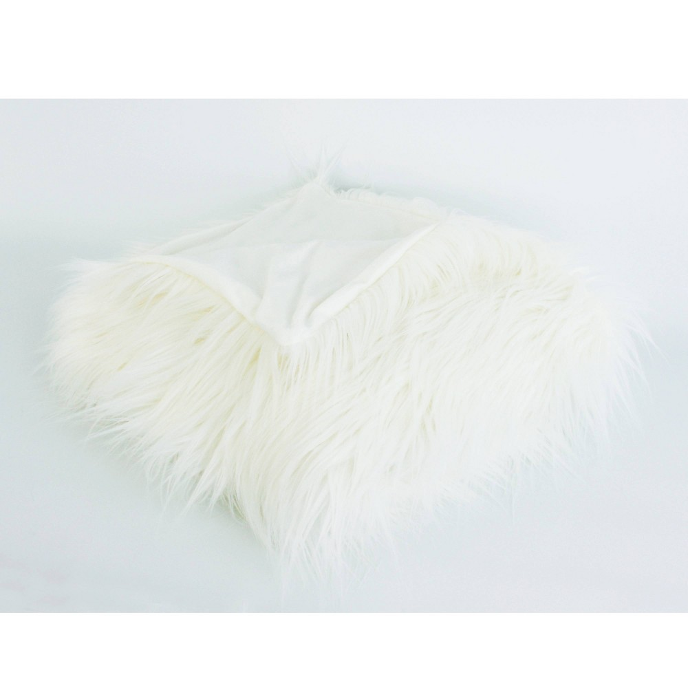Kari Keller Faux Mongolian Decorative Throw White - Décor Therapy from Decor Therapy