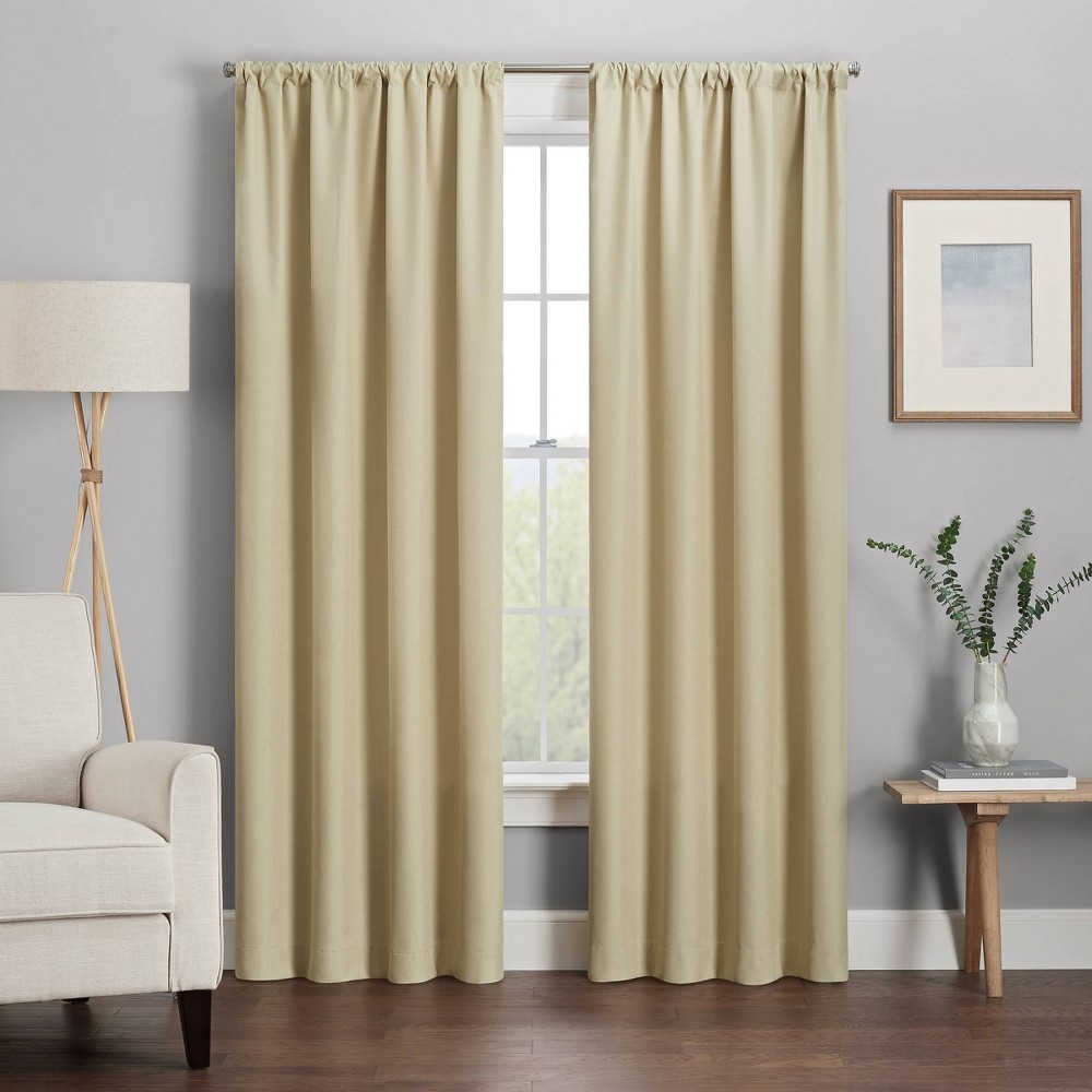 "Kendall Thermaback Blackout Curtain Panel Tan (42"" X 63"") - Eclipse, Adult Unisex, Size: 42""x63"""