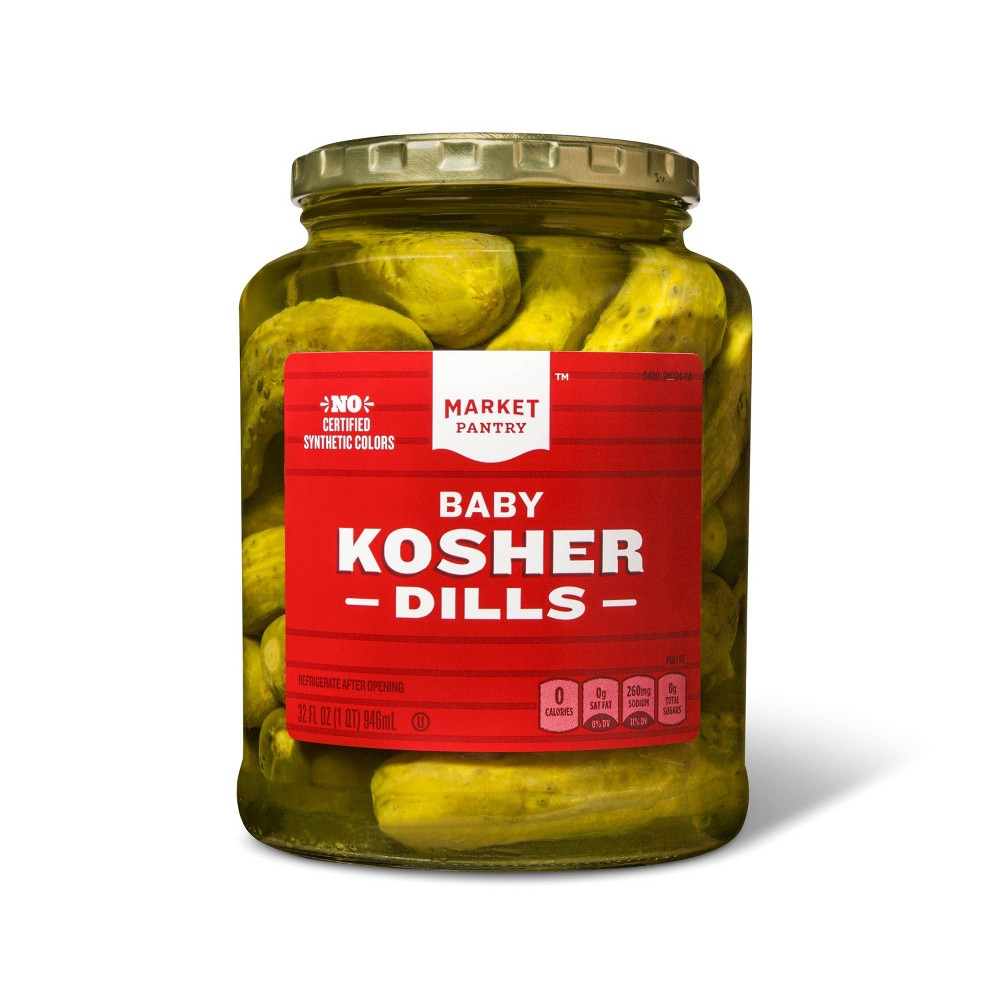 Kosher Baby Dill Pickles - 32oz - Market Pantry from Market Pantry