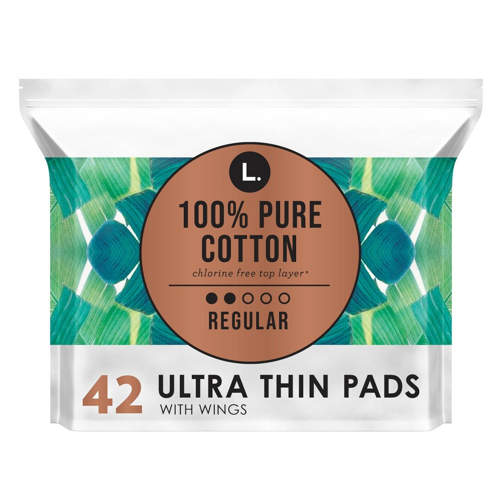 L. Chlorine Free Ultra Thin Regular Absorbency Pads with Wings - 42ct from This is L.