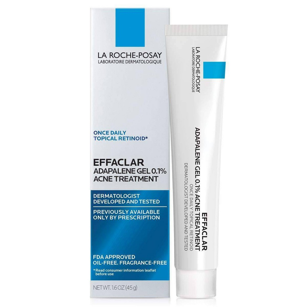 La Roche-Posay Unscented Effaclar Adapalene Topical Retinoid Oil Free Acne Treatment - 1.6oz from La Roche Posay
