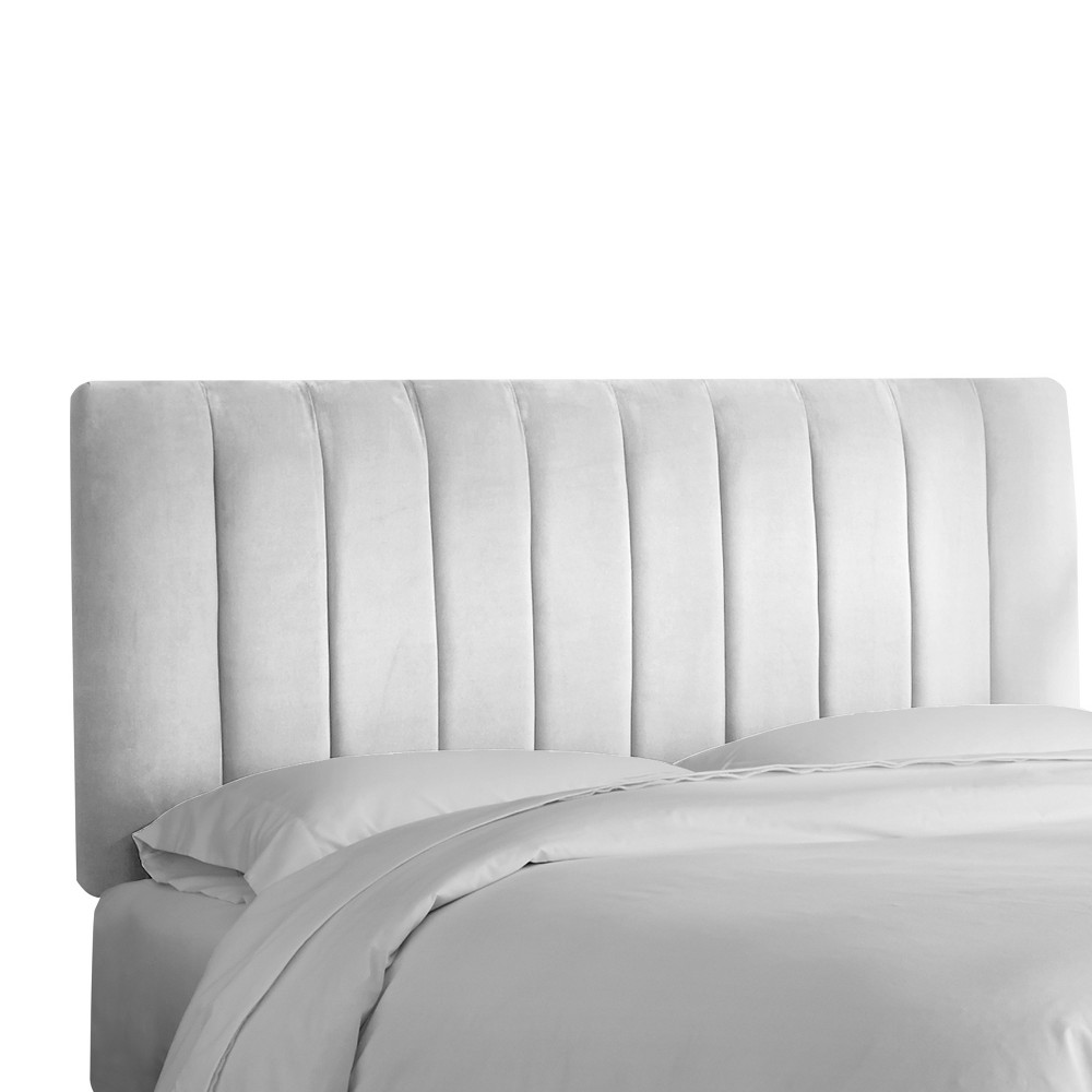 Queen Channel Seam Headboard White Velvet - Project 62 from Project 62