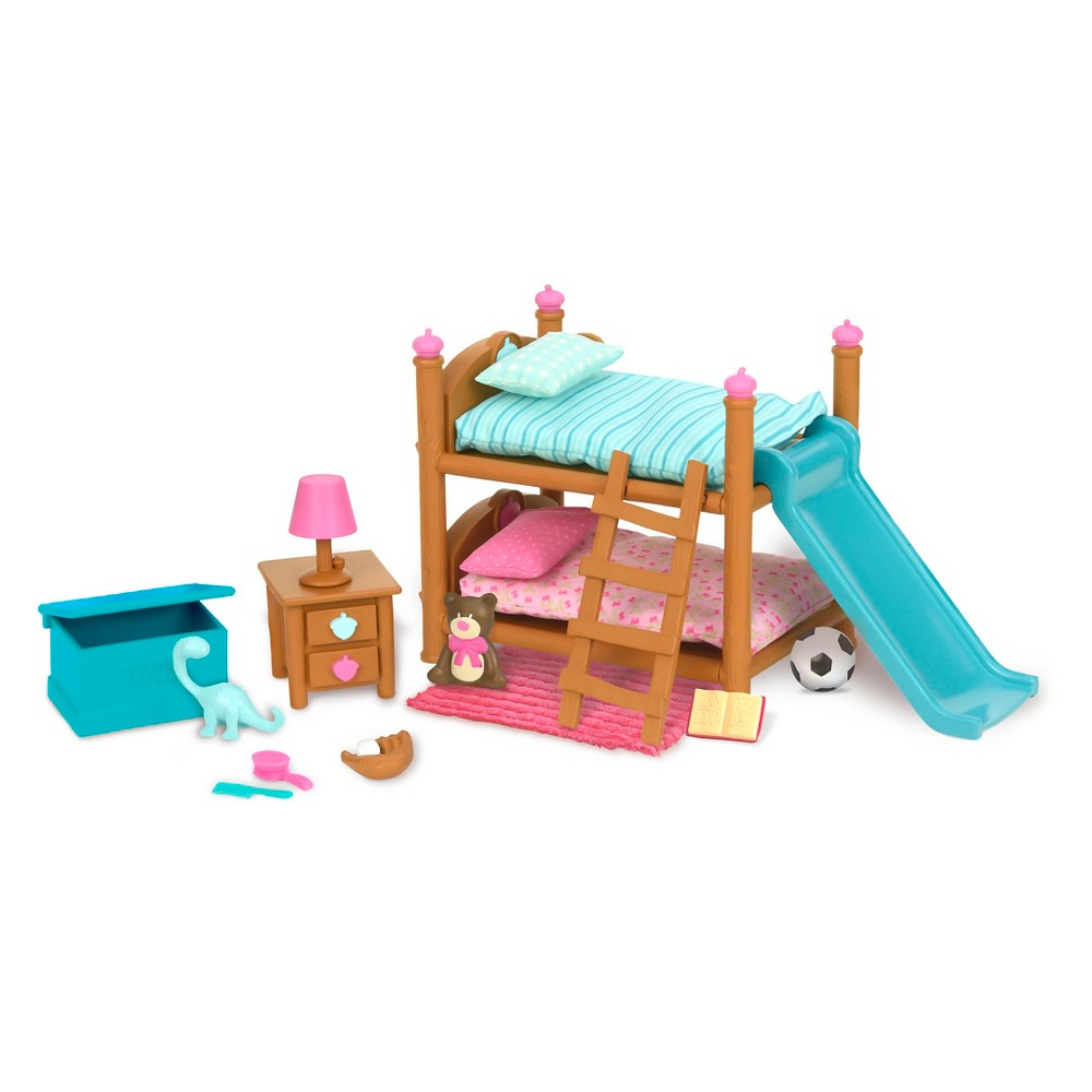 Li'l Woodzeez Miniature Furniture Playset 18pc - Bunk Bed Bedroom Set from Li'l Woodzeez
