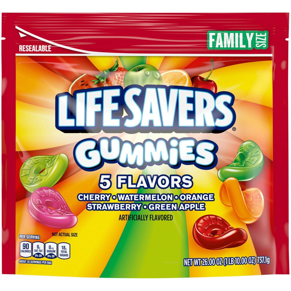 Lifesaver Gummies 5 Flavor Variety Family SUP - 26oz from Life Savers