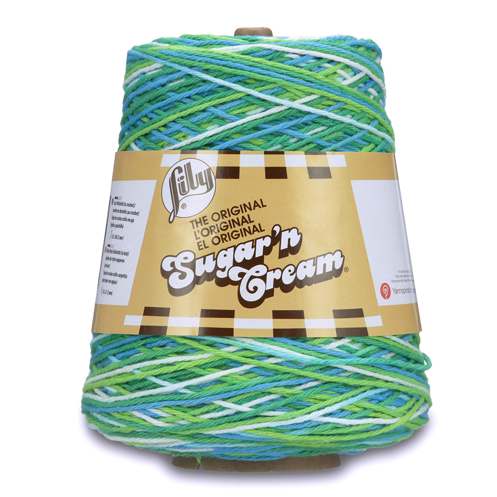 Lily Sugar'n Cream Cone Yarn Emerald Energy