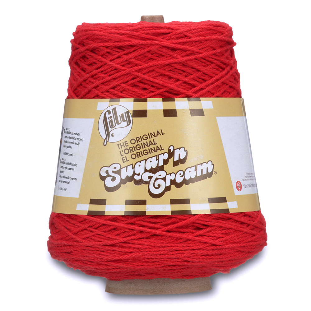 Lily Sugar'n Cream Cone Yarn Red