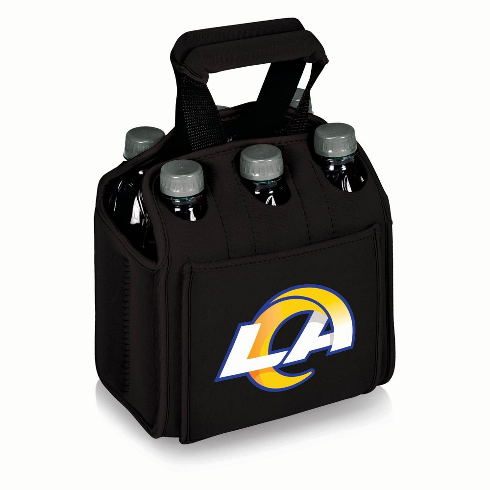 Los Angeles Rams - Six Pack Beverage Carrier by Picnic Time (Black) from Picnic Time
