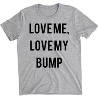 Love Me Love My Bump Women's Grey T-Shirt - L - Grey from Big And Beautiful
