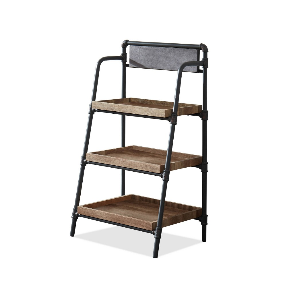 Mack 3 Shelf Rustic Bookcase Light Copper - HOMES: Inside + Out