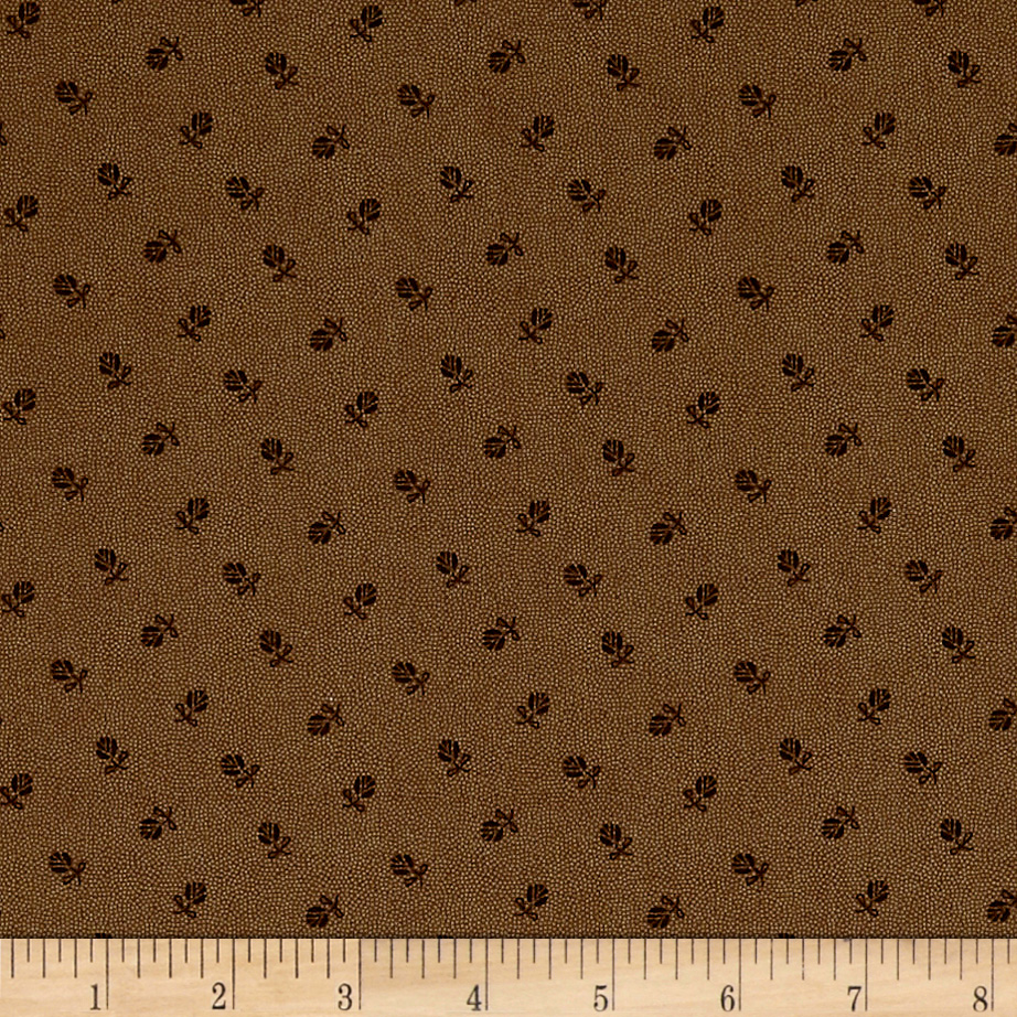 Madeline  C.1880-1909 Mini Flower Mocha Fabric