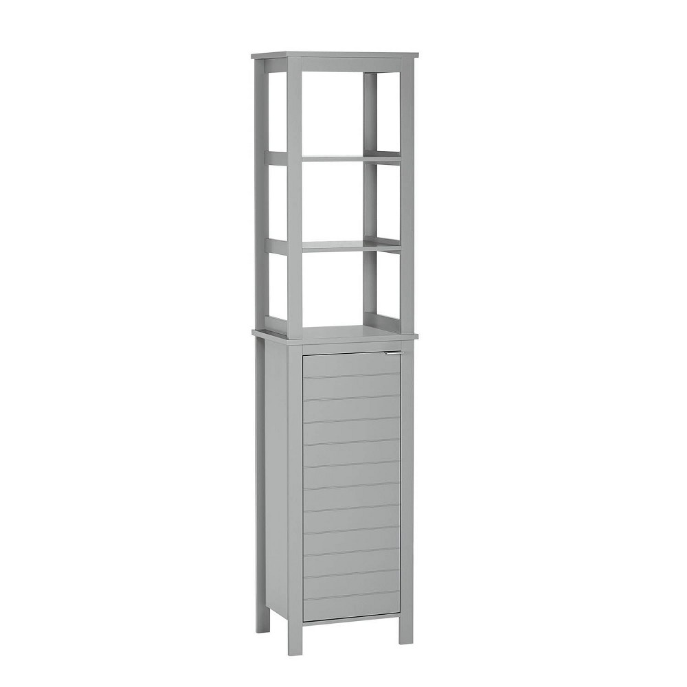 Madison Collection Linen Tower with Open Shelves Gray - RiverRidge Home