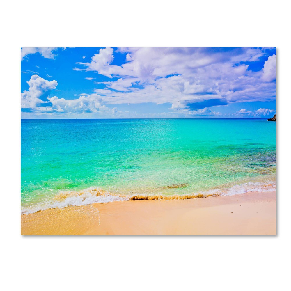"24"" x 32"" Maho Beach by Preston - Trademark Fine Art from Trademark Global"