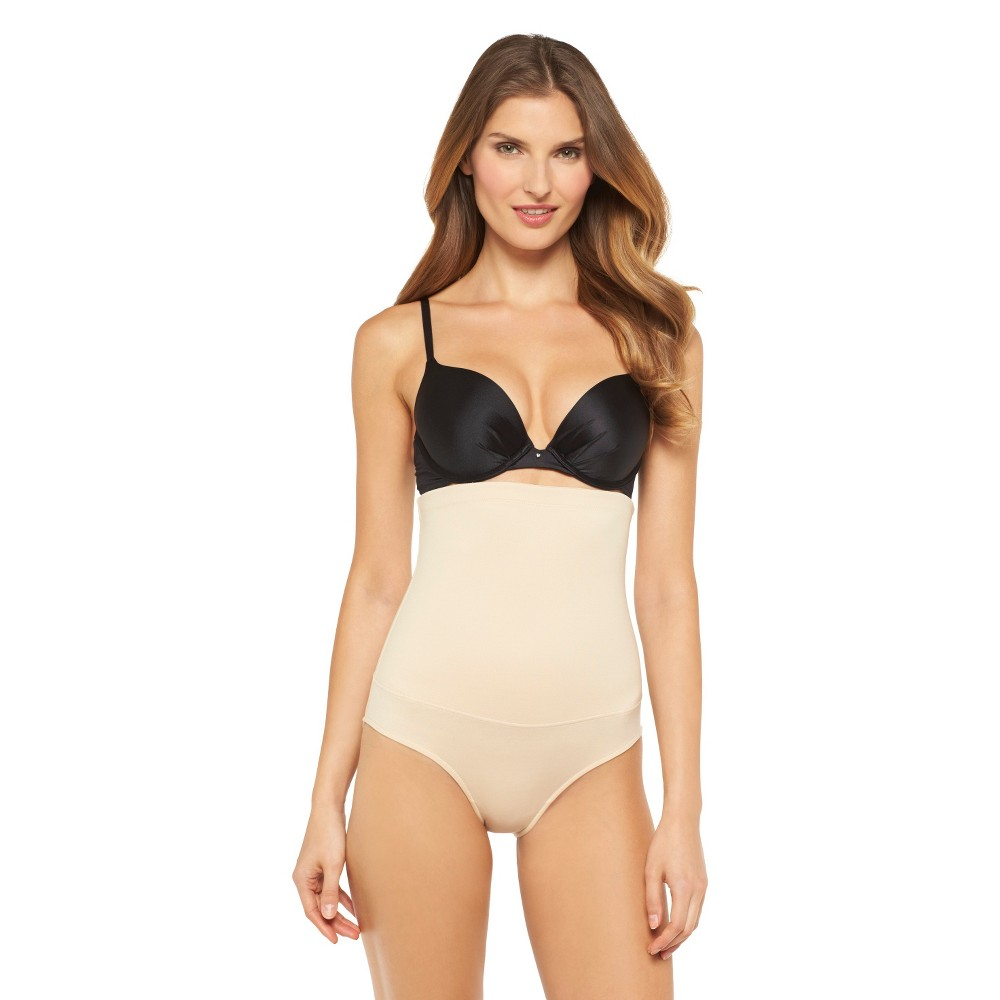 Maidenform Self Expressions Women's Highwaist Briefs 290 - Beige S from Maidenform