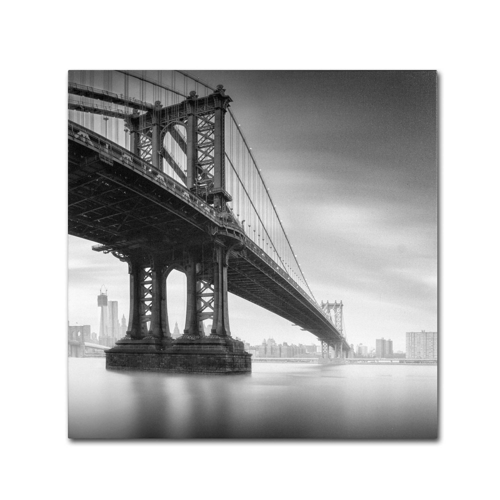 "24"" x 24"" Manhattan Bridge I by Moises Levy - Trademark Fine Art from Trademark Global"