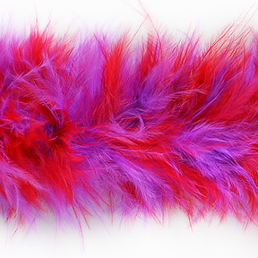 Marabou Feather Boa Trim Red / Purple (Precut 10 Yard)